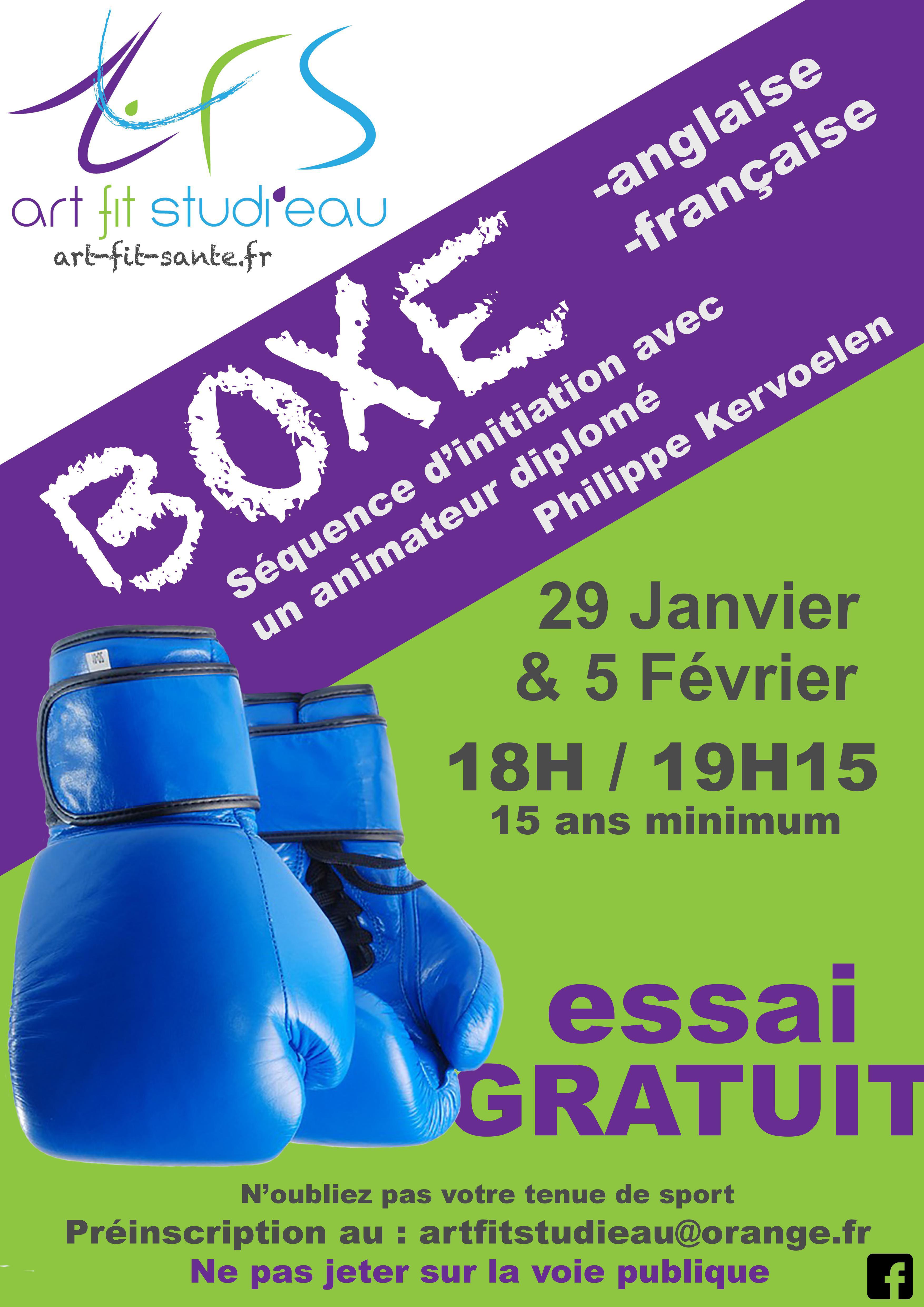 Affiche Boxe JPEG 2 dates